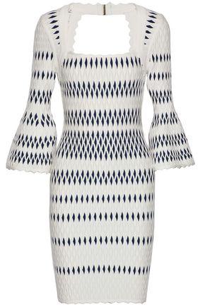 HERVÉ LÉGER Stretch jacquard-knit dress