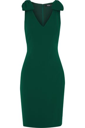BADGLEY MISCHKA Bow-embellished cady dress