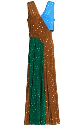 DIANE VON FURSTENBERG Fluted printed silk crepe de chine maxi dress