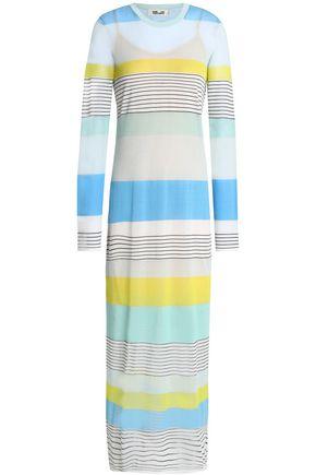 DIANE VON FURSTENBERG Striped cotton-blend jersey maxi dress