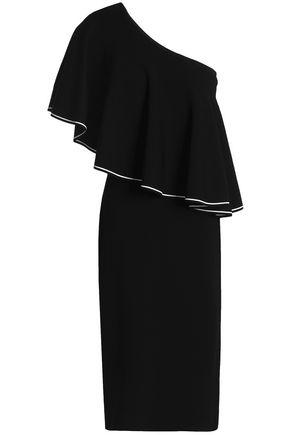 DIANE VON FURSTENBERG One-shoulder ruffled ponte dress