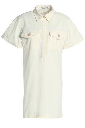 T by ALEXANDER WANG Stretch-cotton gabardine mini shirt dress
