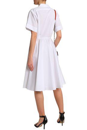 DIANE VON FURSTENBERG Tie-front cotton-poplin shirt dress