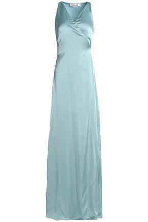 DIANE VON FURSTENBERG Wrap-effect satin gown