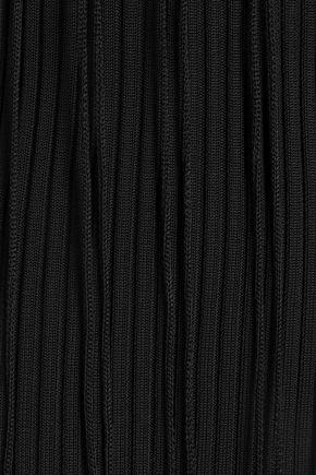 ALEXANDER WANG Cutout ribbed cotton mini dress