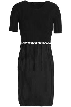 ALEXANDER WANG Cutout ribbed cotton mini dress