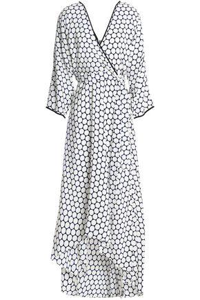 DIANE VON FURSTENBERG Polka-dot silk maxi wrap dress