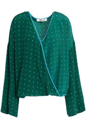 DIANE VON FURSTENBERG Wrap-effect printed silk crepe de chine blouse