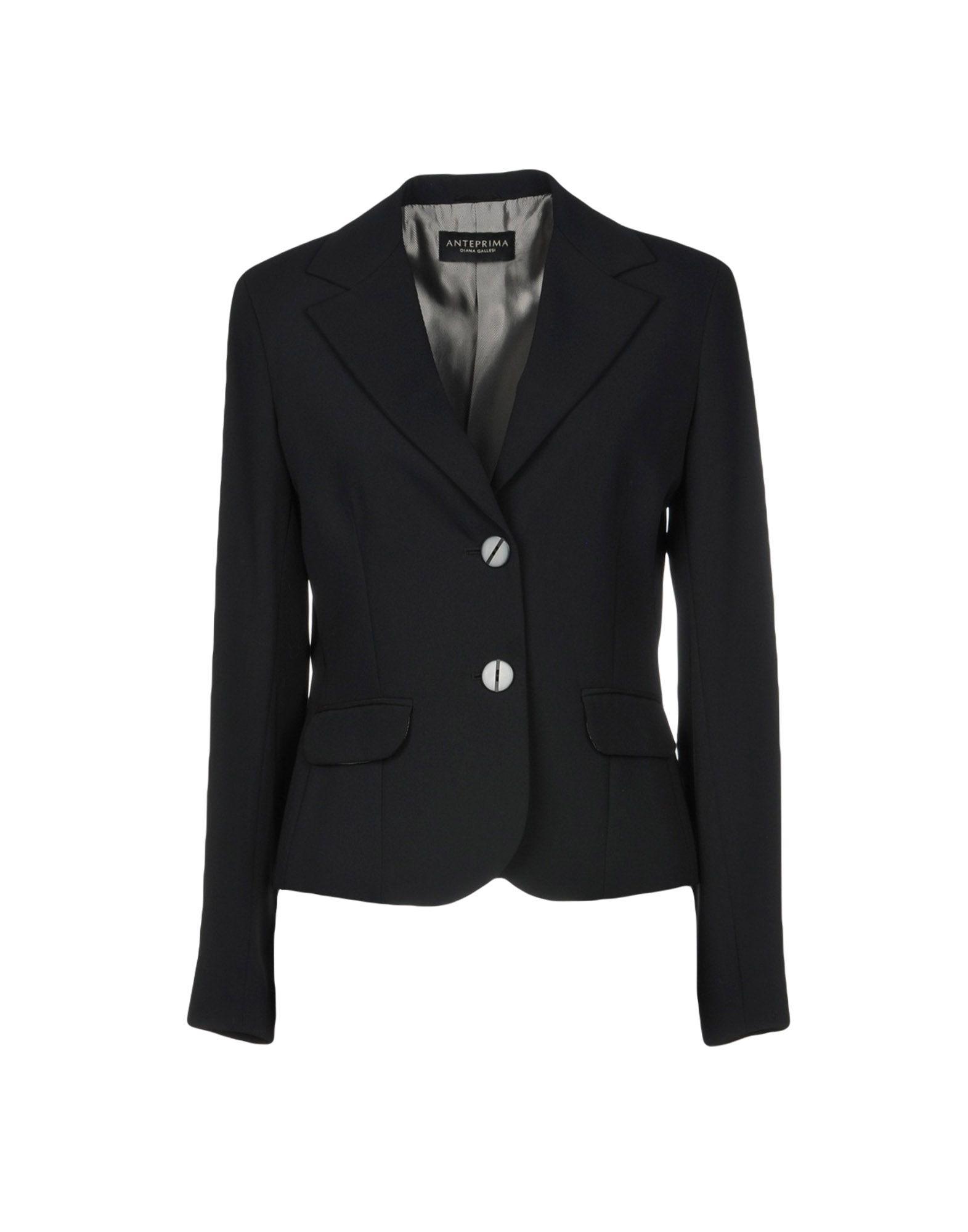 《2万円以上オーダーで送料無料》ANTEPRIMA DIANA GALLESI レディース テーラードジャケット ブラック 40 ポリエステル 100%