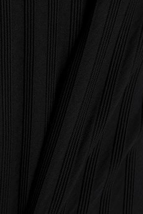 DIANE VON FURSTENBERG Layered ribbed-knit midi dress