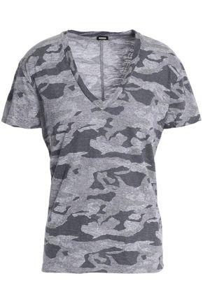MONROW Printed slub jersey T-shirt