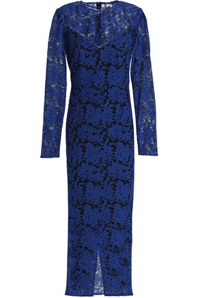DIANE VON FURSTENBERG Embroidered tulle midi dress