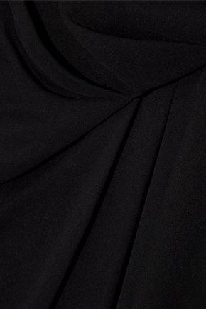 HAUTE HIPPIE Wrap-effect layered silk-chiffon playsuit