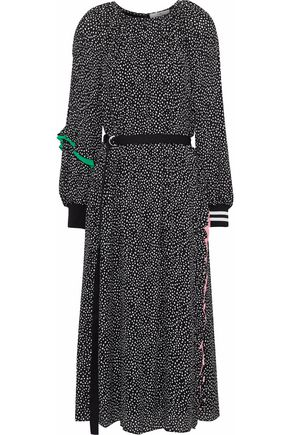 TIBI Martine ruffle-trimmed printed crepe midi dress