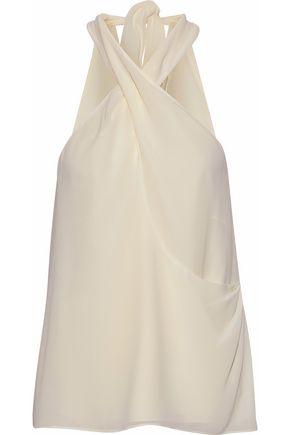 HAUTE HIPPIE Narcissus crossover crepe de chine blouse