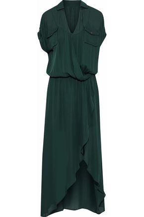 HAUTE HIPPIE Wrap-effect silk crepe de chine maxi dress