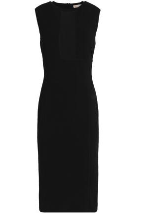 MICHAEL KORS COLLECTION Mesh-paneled ponte dress
