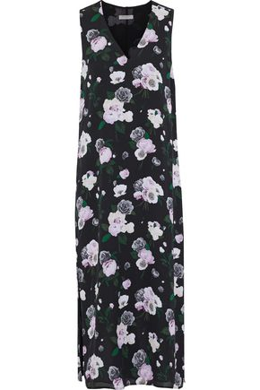 EQUIPMENT Connery floral-print washed-silk midi dress