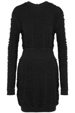 BALMAIN Sliced stretch cotton and modal-blend jersey mini dress