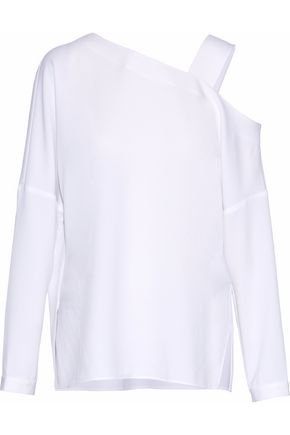 TIBI Cutout crepe top