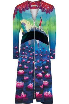 MARY KATRANTZOU +Disney velvet-paneled printed crepe dress