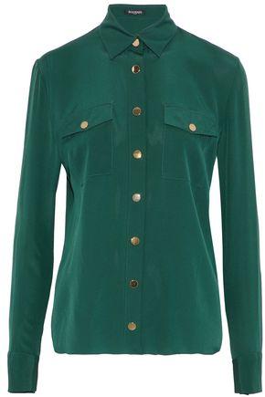 BALMAIN Button-detailed silk crepe de chine shirt