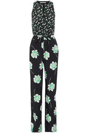 AGNONA Floral-print silk-crepe de chine jumpsuit