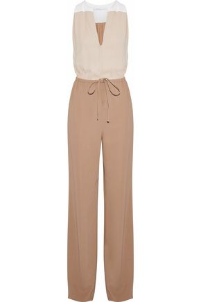 AGNONA Color-block crepe jumpsuit