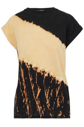 BALMAIN Tie-dyed slub linen-jersey T-shirt