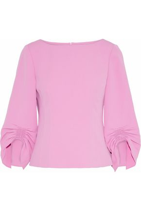 TIBI Ruched cady blouse