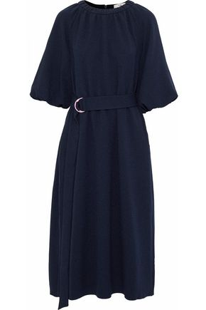 TIBI Mica belted crepe midi dress