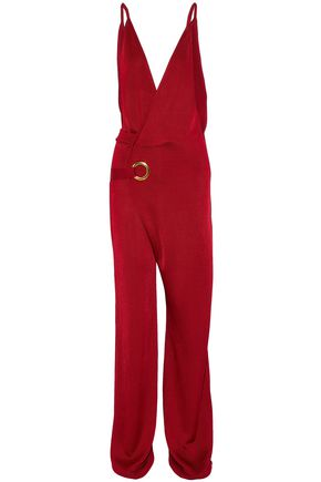 BALMAIN Wrap-effect knitted jumpsuit