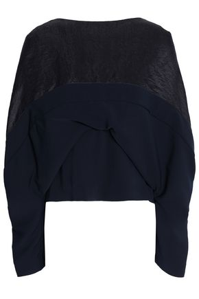 CHALAYAN Paneled crepe top