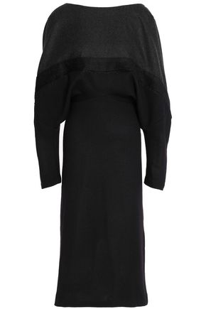 CHALAYAN Draped brushed-wool dress