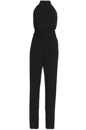 MICHAEL KORS COLLECTION Belted crepe jumpsuit