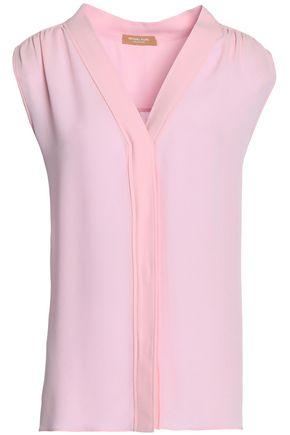 MICHAEL KORS COLLECTION Gathered silk crepe de chine blouse