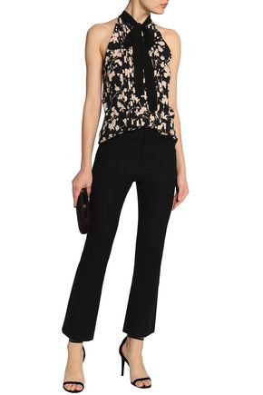 febada19ee69e0 ... MICHAEL KORS COLLECTION Pussy-bow pintucked floral-print silk blouse ...