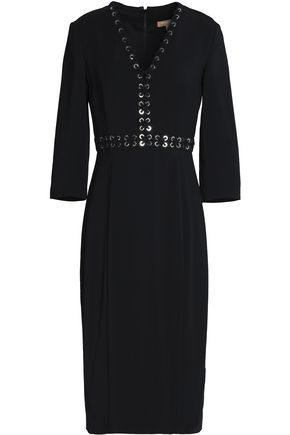 MICHAEL KORS COLLECTION Lace-up crepe dress
