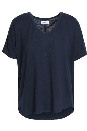 VELVET by GRAHAM & SPENCER Sutton slub linen-blend jersey T-shirt