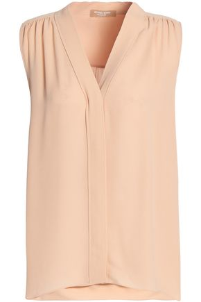 MICHAEL KORS COLLECTION Gathered silk crepe de chine blouse