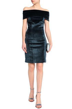 GALVAN  London Off-the-shoulder velvet dress