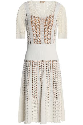 MICHAEL KORS COLLECTION Fluted crocheted dress