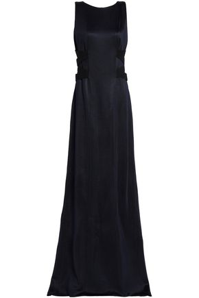 GALVAN  London Lace-up lamé gown