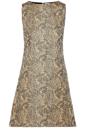 ALICE+OLIVIA Clyde cotton-blend brocade mini dress