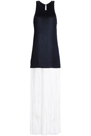 GALVAN  London Fringed stretch-ponte gown