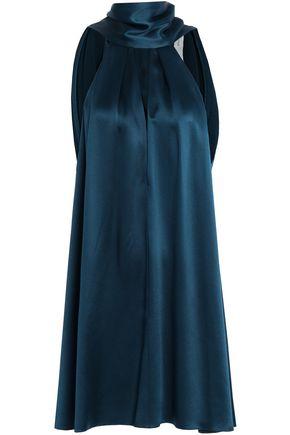 GALVAN  London Tie-back cutout silk-satin mini dress