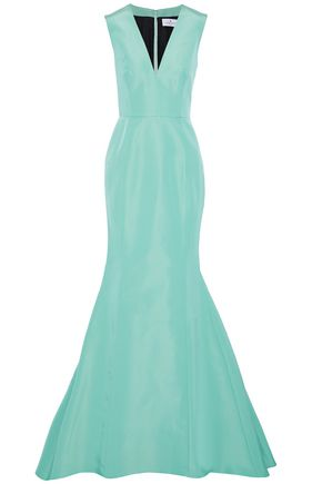 J.mendel J.MENDEL WOMAN FLUTED SILK-FAILLE GOWN MINT