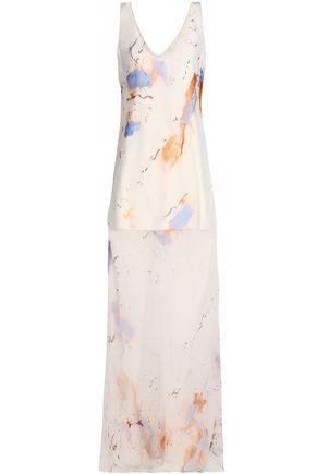 GALVAN  London Printed silk-organza maxi dress
