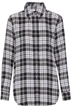 EQUIPMENT Reese checked washed-silk shirt