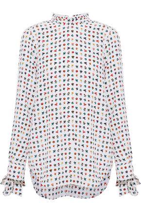 EQUIPMENT Floral-print silk crepe de chine blouse